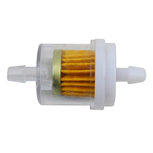 iFJF Lawn Mower Fuel Filter 40 Mircon 691035 Replaces 493629 for Briggs & Stratton Engines 1/4 Inner Diameter fuel line nipples ATV Motorcycle Lawn Mower(Set of 1)