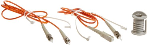 Fluke Networks NFK1-SMPLX-ST Simplex Multimode Test Reference Cords for ST Adapter, 62.5 µm, 1 m Cable Length (Set of 2), (SC/ST, ST/ST) by Fluke Networks (Image #1)