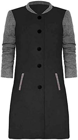 Ros1ock Patchwork Long Sleeve Cardigan Jacket Womens Casual Coat Jumper Knitwear Long Outwear