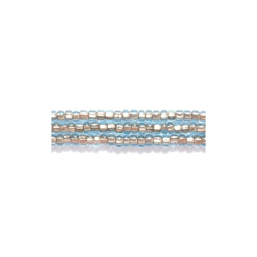 Preciosa Ornela Czech Seed Bead, Copper Lined Light Aqua, Size 11/0 Shipwreck Beads 11SB7262