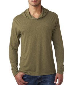 Bodek And Rhodes 67445225 6021 Next Level Unisex Tri-Blend Long-Sleeve Hoody Military Green - Large from Next Level
