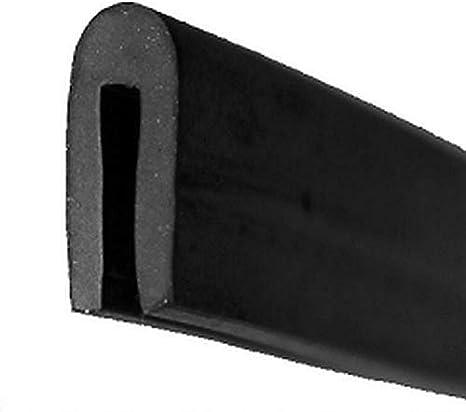 KS-TPE1-2S Kantenschutz aus Thermoplast 3 m Schwarz- Klemmprofil einfache Montage selbstklemmend ohne Kleber von SMI-Kantenschutzprofi TPE Klemmbereich 1-2,5 mm
