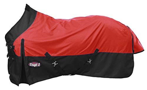 Tough-1 Premium 1200 Denier Waterproof Medium/Heavy Weight Nylon Turnout Blanket - 300g Fill (Medium Weight Turnout)