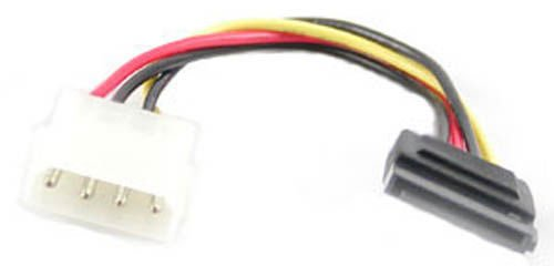 BattleBorn Lot of 20 4-Pin Molex Power to 15-Pin SATA Power Adapter Converter Cable Cord