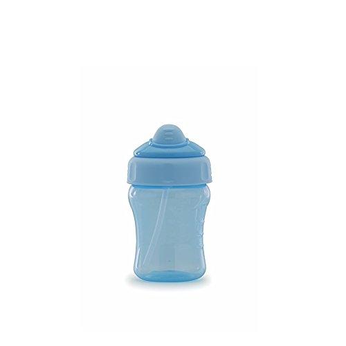 Copo Antivazamento com Canudo, Adoleta Bebê, Azul Real