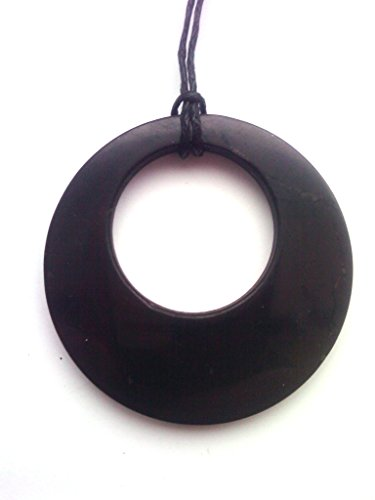 Shungite Pendant Double Circle. EMF Protection Stone. Genuine Shungite and Highest Quality Guarantee.