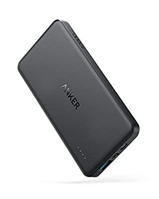 Anker PowerCore II Slim 10000 Ultra Slim Power Bank, Upgraded PowerIQ 2.0 (up to 18W Output), Fast Charge for iPhone, Samsung Galaxy and More (Black) by Anker