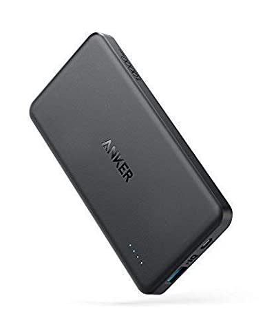Anker Power Core Ii Slim 10000 Ultra Slim Power Bank, Upgraded Power Iq 2.0 (Up To 18 W Output), Fast Charge For I Phone, Samsung Galaxy And More (Black) by Anker