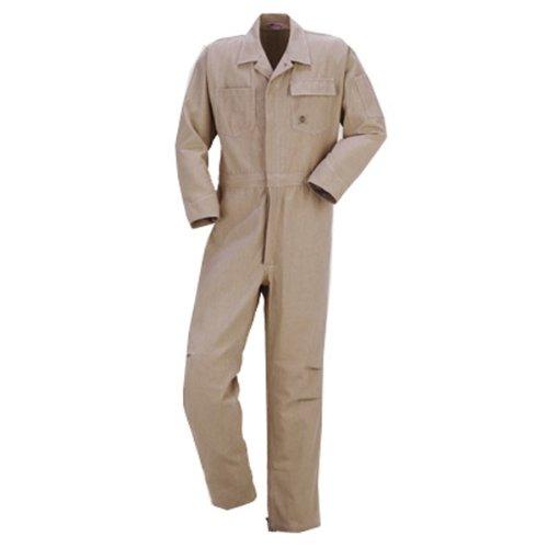 kurehifuku(クレヒフク)長袖つなぎ おしゃれ カツラギ ウオッシュ加工kr-1610 B01N6X4LAL 4L|レッドヒッコリー