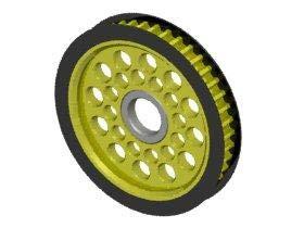 3Racing #3R/3RAC-3PY/42 Aluminum Diff. Pulley Gear T42 for 3Racing Sakura D3 CS Sport ()