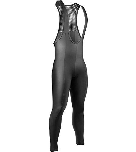 AERO|TECH|DESIGNS ATD Men's Bib Tights - Thermal Stretch Fleece Padded for Cycling, - Tights Fleece Bib