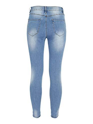 borchie amp;LIMONE con strappati Jeans GHIACCIO Jeans OInxwW6W