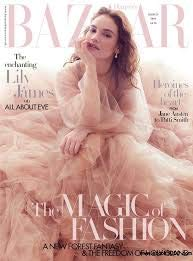 Harper's Bazaar UK Magazine March 2019 Lily James Cover