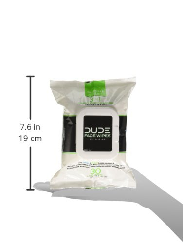 DUDE Face Wipes (3 Packs 30 Wipes) Energizing & Refreshing Scent Infused with Pro Vitamin B-5, Face Cleansing Cloths for Men, Lightly Scented for Mid-Day Refreshment, Hypoallergenic, Alcohol Fre by Dude Products (Image #5)