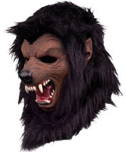 Werewolf Fur Halloween Mask, Black