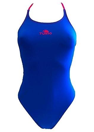 Turbo Girls Cross Comfort - Bañador para niña, Color Azul, Azul, 32