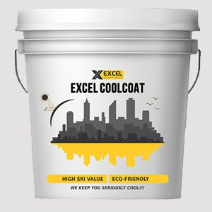 EXCEL CoolCoatu201a Solar Heat Reflective Roof Coating, Summer Cool Paint (20  Lts Pack