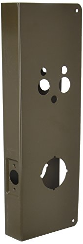 Don-Jo 5100-CW 22 Gauge Stainless Steel Wrap-Around Plate, Oil Rubbed Bronze Finish, 5-1/8