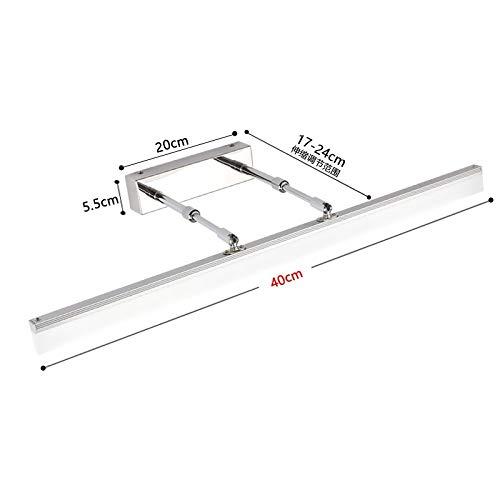 Spiegel Scheinwerfer Wasserdichte LED Spiegel Scheinwerfer Einstellbare Badezimmer Lichter Make-Up Licht (Farbe   Silber)