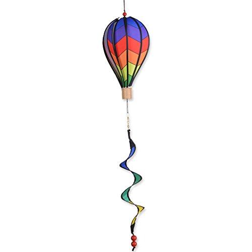 Premier Kites 12 in. Hot Air Balloon - Chevron Rainbow