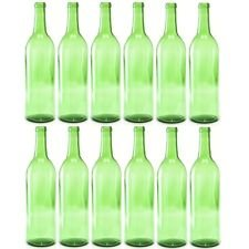 Bottle Tree Creations by Jerry Swanson 12-750 ml green Claret Glass Wine Bottles For Your Bottle Tree