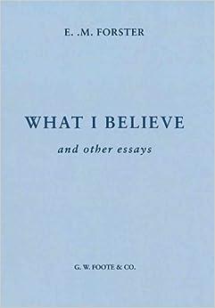i believe in essays