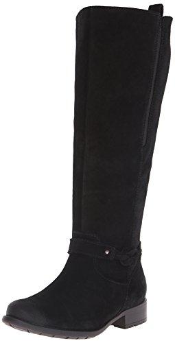 Clarks Women's Plaza Studio Riding Boot Black Waterproof Suede lowest price cdFCSRMAV6