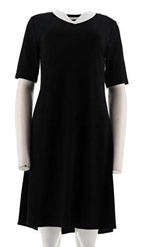 Isaac Mizrahi Essentials Pima Cotton Dress Black L New A306544 from Isaac Mizrahi Live!