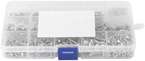 CHENBIN-BB 480pcsのM2 / M3 / M4ステンレス鋼SS304六角ボタンヘッドねじとナットAssrotmentセット