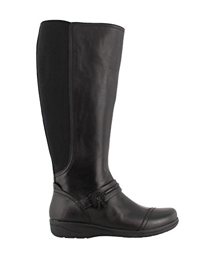 Clarks Women's Cheyn Whisk Riding Boot, Black, 10 M US