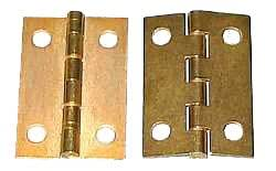 100 1x1-1/2 Inch Brass Plated Butt Hinges with 400 #4x1/2 Flat Head Screws