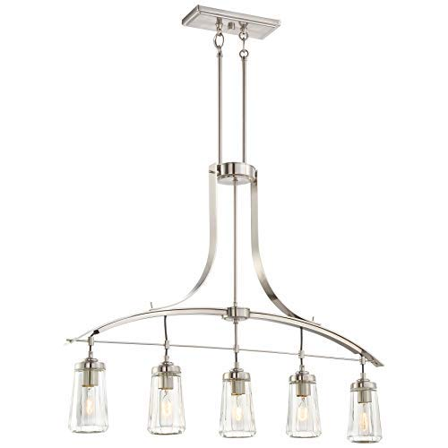 Minka Lavery Chandelier Lighting 3306-84 Poleis, 5-Light , 300 Total Watts, Brushed Nickel
