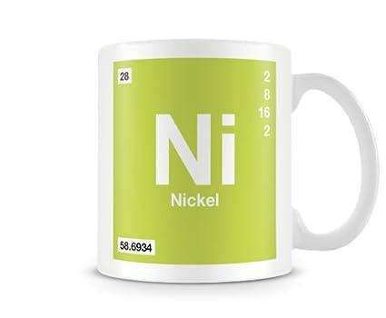 Periodic Table Of Elements 28 Ni Nickel Symbol Mug Amazon
