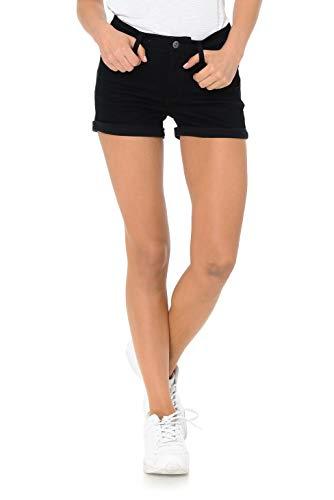 Urban Look Women's Body Enhancing Denim Shorts (Medium, B Black) ()