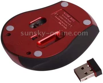 Color : Red 2.4GHz Wireless Mini Visual Mouse with USB Miniskirt Receiver Red Plug and Play ONEMO Functional Distance up to 10 Meters