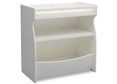 (Delta Children 2-in-1 Changing Table and Storage Unit, Bianca)