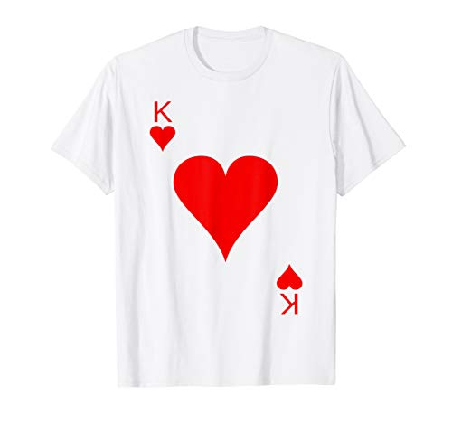 King of Hearts Deck of Cards Halloween Costume T-Shirt -