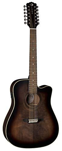 (Luna Guitars Art Vintage Dread Solid Top 12 String A/E Guitar, ART V DCE)