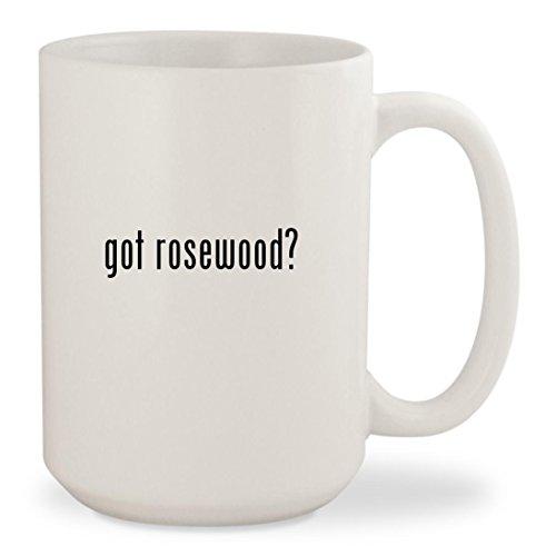 got rosewood? - White 15oz Ceramic Coffee Mug Cup (Flooring White Florida)