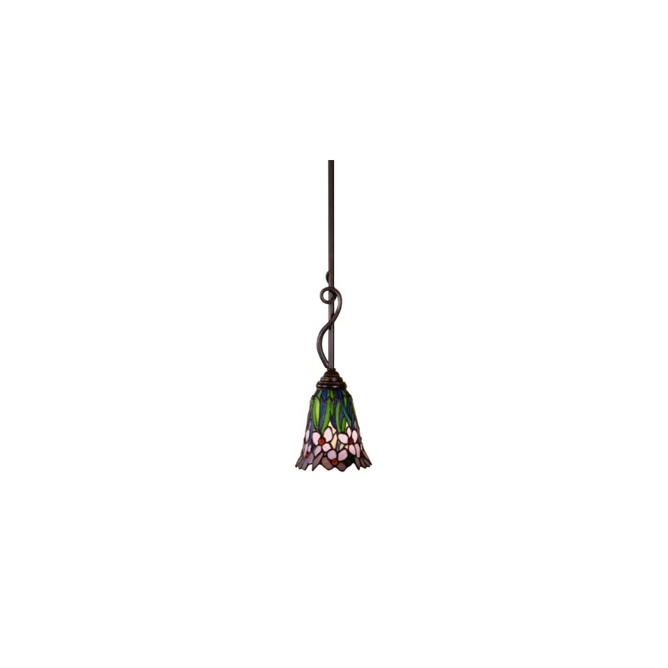 Dale Tiffany TH101055 Meadowbrook Hanging Light, Antique Bronze and Art Glass Shade