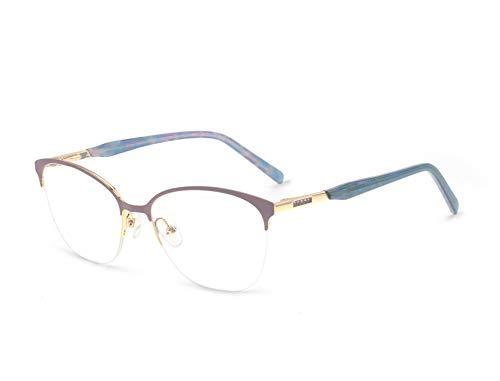 - OCCI CHIARI Womens' Oval Metal Colorful Fashion Eyewear Frame With Clear Lenses