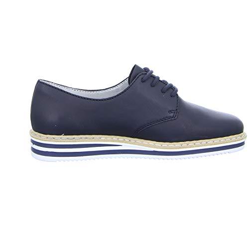 Rieker con Donna allacciatura Derby Da Scarpa Ufficio scarpe Basse scarpe Lassi Navy stringata N0210 14 Lavoro rn8axr1