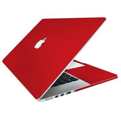 BodyGuardz - Carbon Fiber Armor, Protective Skin for Apple MacBook Pro 15-Inch (2012-Present, Red) ()