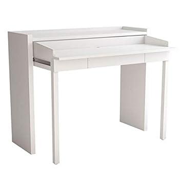Paris Prix - Consola Mesa Extensible Lana 110 cm Color Blanco ...