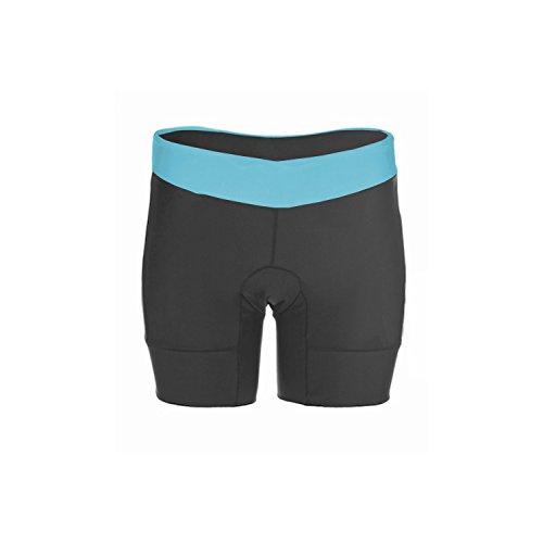 Kona Women's Triathlon Shorts with 2 rear pockets for energy gels (Light Blue, Medium) (Triathlon Short)