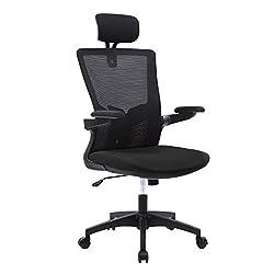 Wolmics Bürostuhl Ergonomisch Schreibtischstuhl Atmungsaktiver Mesh-Bürostuhl mit hoher Rückenlehne Verstellbare…