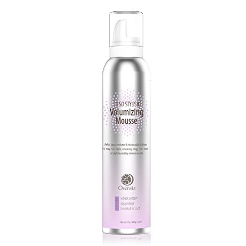 Major Volume Mousse  Anti-Humidity, Strong Hold, Touchable Natural Mousse Hair Foam  Color Safe Volumizing Hair Products to Thicken All Hair Types 8.5oz - Osensia