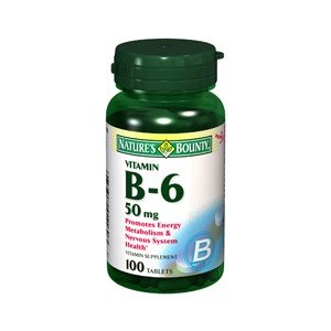 Special Pack of 5 NATURES BOUNTY Vitamin B-6 50MG 1160 100 Tablets by Nature's Bounty