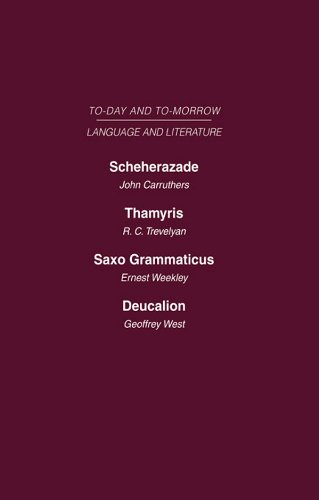 Download Scheherazade or the Future of the English Novel Thamyris or Is There a Future for Poetry? Saxo Grammaticus Deucalion or the Future of Literary Criticism: … or Is There a Future for Poetry? AND Pdf