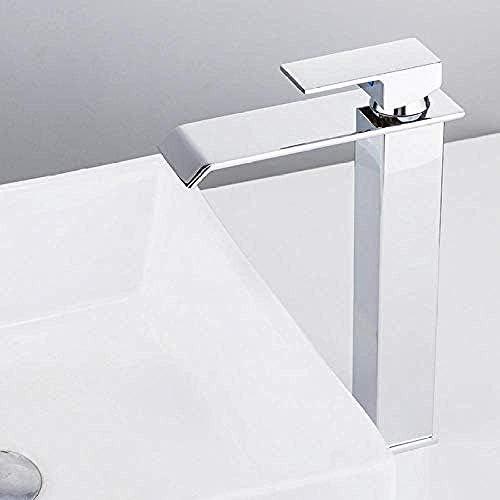 Zxyan 蛇口 立体水栓 タップ流域ミキサータップタップ 滝の蛇口真鍮の浴室の蛇口の浴室の洗面台の蛇口背の高いミキサータップホット&コールドシンクの蛇口 トイレ/キッチン用